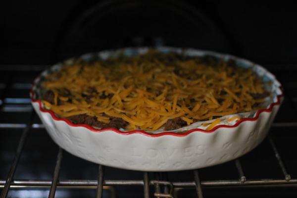 cook burrito pie in oven