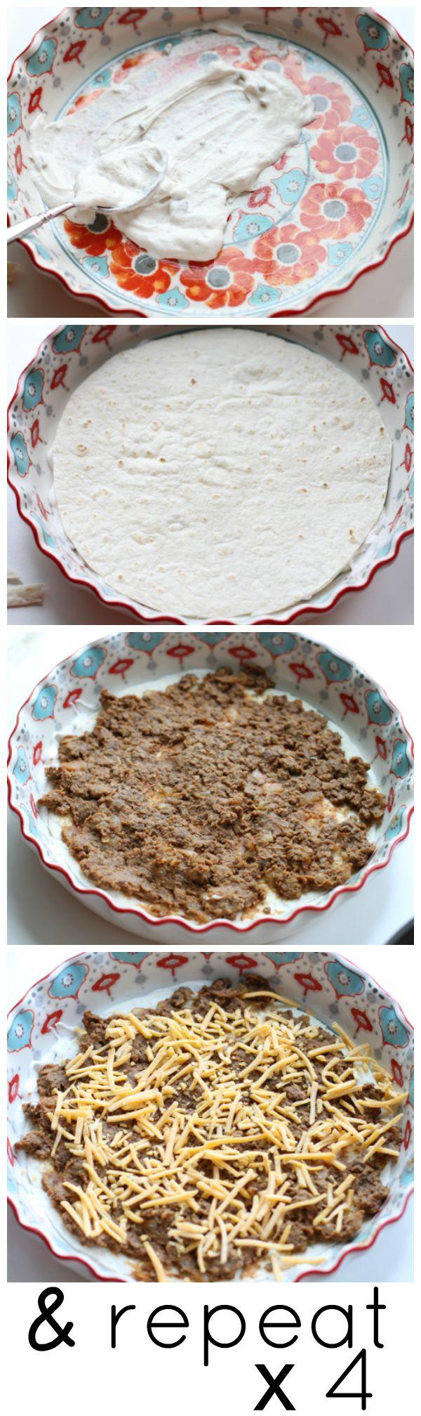 Layering the Burrito Pie