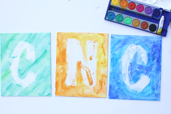 Watercolor Initial Art