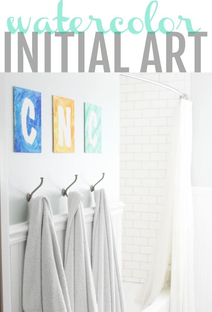 Initial Art with Watercolors