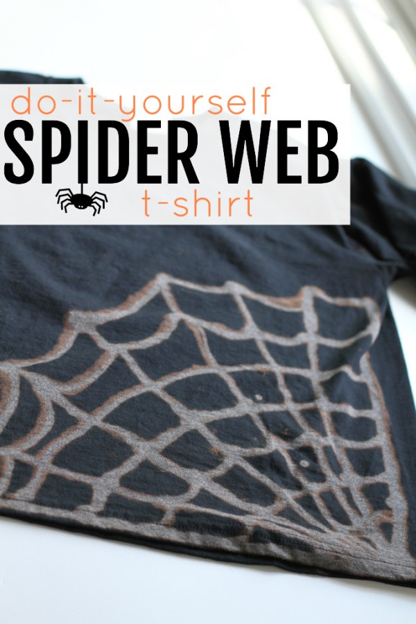 DIY Spider Web T-Shirt