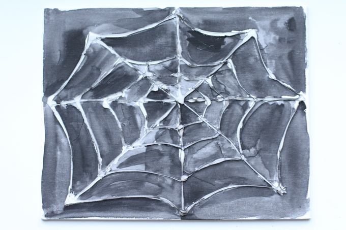 Watercolor Spider Web Art