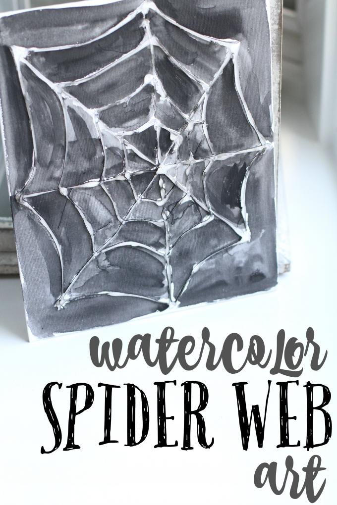 Watercolor Spider Web Art