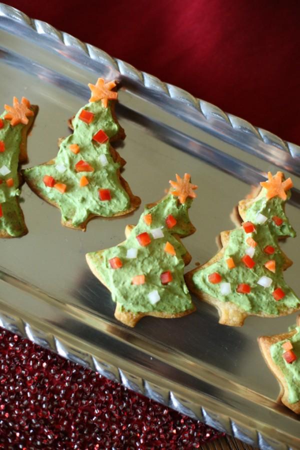 Veggie Pizza Christmas Trees
