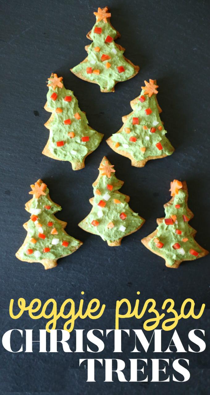 Delicious Veggie Pizza Christmas Trees