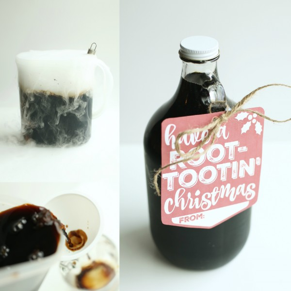Homemade Root Beer with Dry Ice
