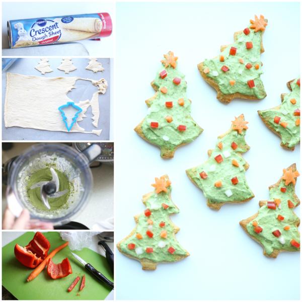 Veggie Christmas Tree Recipe: Veggie Christmas Tree Collage
