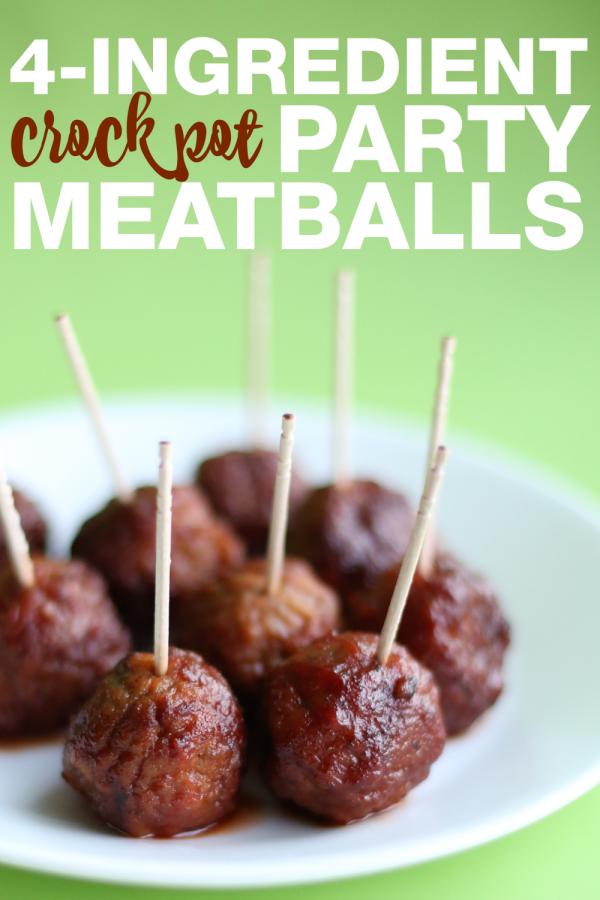 4-Ingredient Crock Pot Party Meatballs