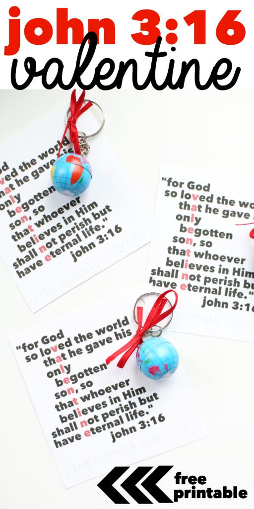 John 3:16 Printable Valentines