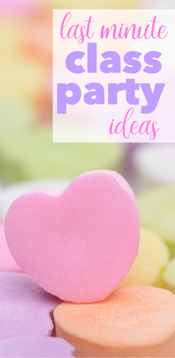 Last minute valentine 39 s day classroom party activities for Last minute party ideas