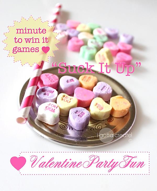 suck it up minute to win it igottacreate valentine