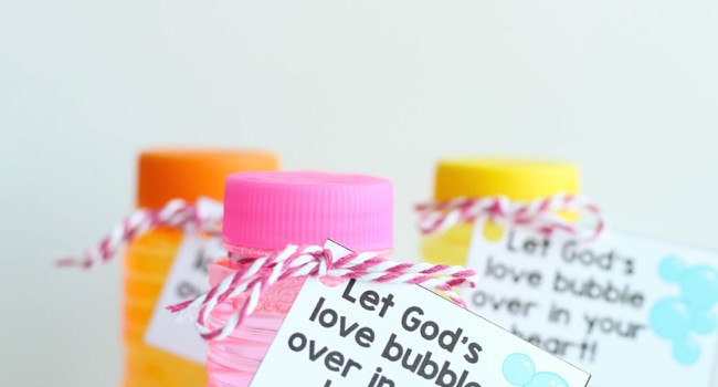 Bubble Gift Tags:  Let God's Love Bubble Over