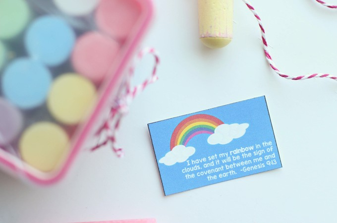 Rainbow as God's Promise Printable