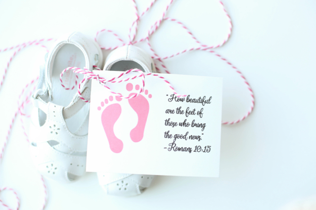 How Beautiful are the Feet of those Who Bring the Good News Shoe Gift Tags