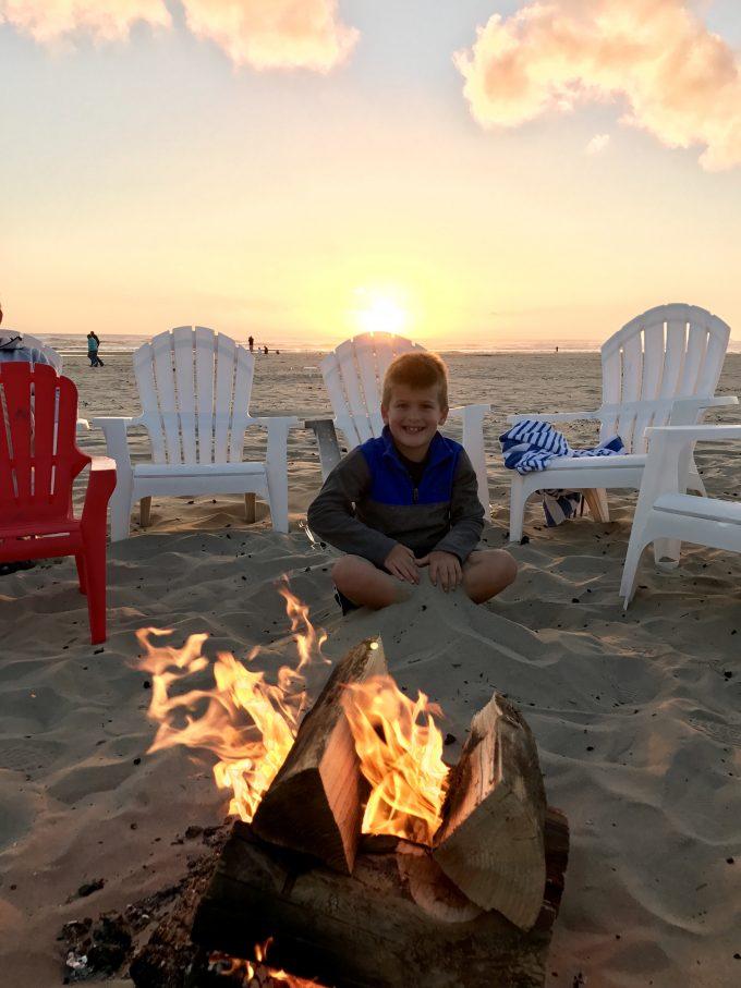 Bonfire at Cannon Beach