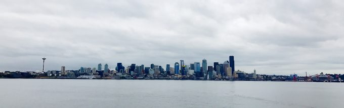 Seattle skyline from ferry