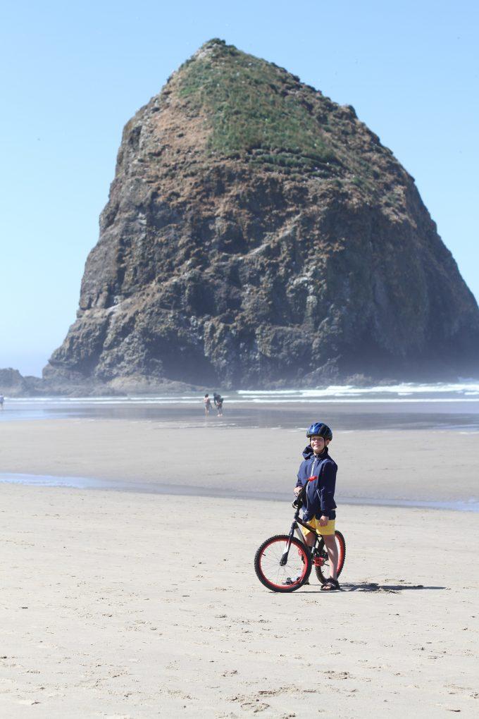 Riding Bikes at Cannon Beach